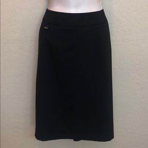 Calvin Klein Black Pencil Skirt Size 10